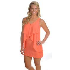 Go with the Flow Dress in Coral