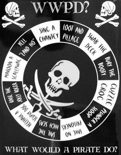 what would a pirate do? this would be cool to make into a spinning wheel & play on Scurvy Dogs' Club Cruises aboard Buccaneer!