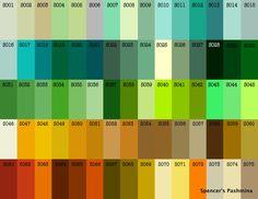 Shamina Green Color Chart