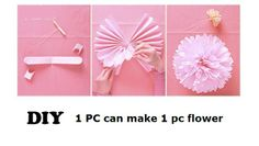 DIY 10 inch Paper Flower Wedding Birthday Party Celebration Home Decoration Event Gift Art Festival Hotel Free Shipping-in Event & Party Sup...