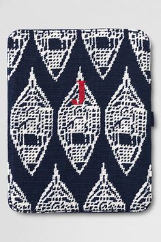 Snowshoe Needlepoint iPad Case from Lands' End    If only I had a Kindle!