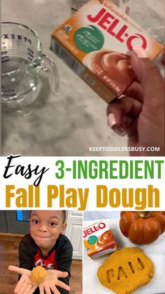 Find Out How To Make Play Dough For Young Kids That Is Perfect For The Fall Season! We Only Used 3 Ingredients To Make This Make An Edible Dough Recipe That's Perfect For The Autumn Season! #FallCraftsforkids Sensory Activities For Preschoolers, Autumn Activities, Toddler Activities, Easy Diy Crafts, Fun Crafts, Butterscotch Cookies, Homemade Playdough, Fall Crafts For Kids, Fall Recipes