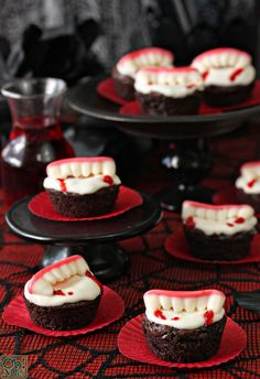 Vampire Bite Brownies | From OhNuts.com                                                                                                                                                                                 Mais