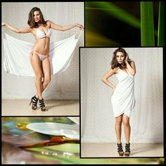 "Simple White Slip On Dress ( Also in Black) *also have this in black. OSFM. Easy on, easy off. A wardrobe  beach cover staple. A simple white perfect at the  beach dress with handle wrap closure and open back. Lightweight, stretch material - spandex/polyester blend. It is ""one size"" meaning in this case it would likely best fit a size 4 to 8. Brand new straight from factory, so no tags yet. Swim Coverups"