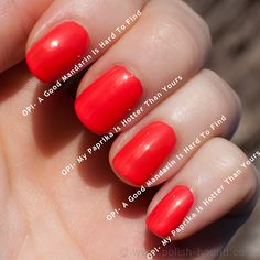 Opi A Good Mandarin Is Hard To Find Vs Hot And Spicy Nail Polish Dupes on P...