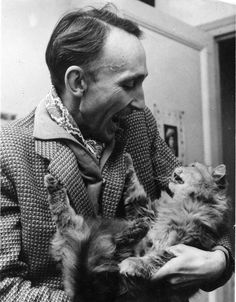 Andre Bazin and cat
