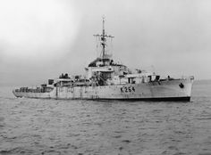 HMS Cam(K264) a River class Frigate. built by G.Brown of Greenock, build was completed on 21/01/44. One of the four River class to be fitted with steam Turbines instead of steam reciprocating engines.  On 18th July'44 whilst involved in a depth charge attack on a U-boat, an underwater explosion severely damaged her.  Upon being towed to  Portsmouth was declared a total loss and was eventually scrapped in July ;45 Steam Turbine, Navy Ships, Small Boats, Us History, Royal Navy, Portsmouth, Battleship, World War Ii, Corvette