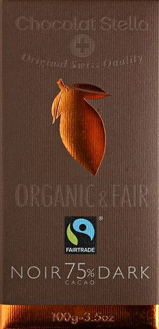 Neuchatel Organic Swiss Dark Chocolate Bar - 75% Cacoa