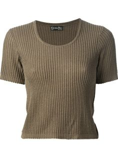 Christian Dior Vintage Ribbed Knit Sweater