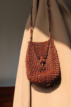 Image of Seeds bag Knitted Bags, Minimal Fashion, Ethical Fashion, Bag Sale, Bucket Bag, Yves Saint Laurent, Vintage Fashion, Style Inspiration, Shoe Bag