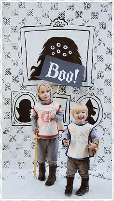 Trick or Treat! Halloween photobooth backdrop for kids