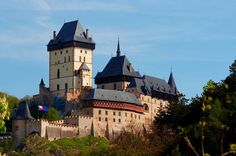 Czech Karlštejn Castle was founded 1348 by the Emperor Charles (Karl) IV.