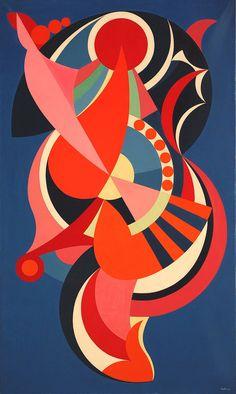 """Auguste Herbin (French: 1882 -1960), Une danseuse """"en formes"""""""