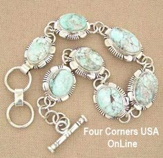 Four Corners USA Online - Dry Creek Turquoise 7 5/8 Inch Adjustable Link Bracelet Jane Francisco Native American Indian Silver Jewelry NALB-1407, $525.00 (http://stores.fourcornersusaonline.com/dry-creek-turquoise-7-5-8-inch-adjustable-link-bracelet-jane-francisco-native-american-indian-silver-jewelry-nalb-1407/)
