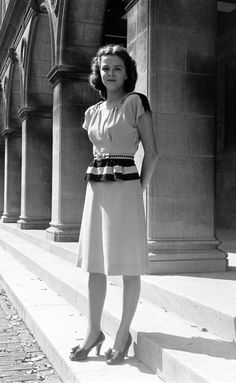 1940s peplum dress