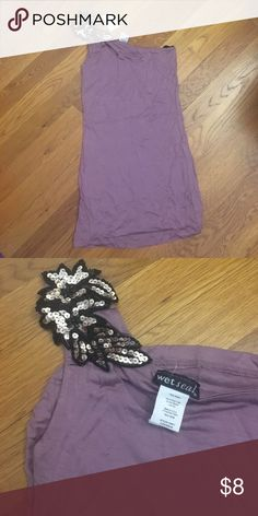 One shoulder purple tank Purple single shoulder tank top with shoulder design Wet Seal Tops Tank Tops