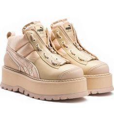 puma platform boot quill