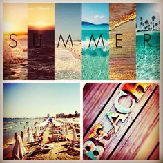 Collage with Sunny Beach, Bulgaria