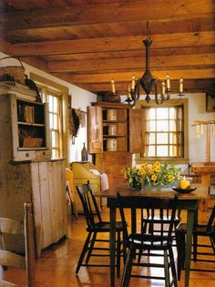 Most Design Ideas Kitchen Dining Room Furniture Pictures, And Inspiration – Modern House Home, Country Decor, Primitive Dining Room, Primitive Homes, Colonial Dining Room, Primitive Decorating Country, Primitive Dining Rooms, Rustic House, Primitive Kitchen