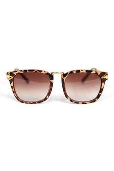 Panterprint sunglasses with gold details