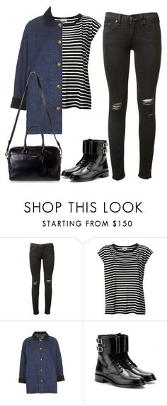 """""""Untitled #102"""" by simonakolevaa ❤ liked on Polyvore featuring rag & bone, Yves Saint Laurent and Topshop"""