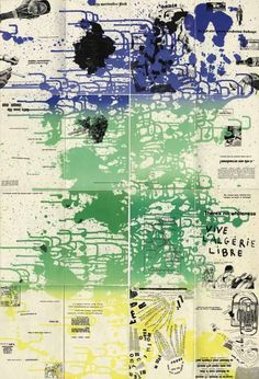 A Situationist classic: Asger Jorn and Guy Debord's Fin de Copenhague: Observatory: Design Observer Guy Debord, Situationist International, Christian Backgrounds, Industrial Paintings, Design Observer, Ink Splatter, Print Layout, Dutch Artists, Italian Artist