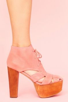 Ford Cutout Platform - Dusty Rose by Jeffrey Campbell