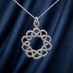 Corona Silver Lace Necklace   13th Anniversary   MyGiftGenie