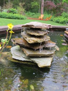 Simple koi pond waterfalls how to place pump in koi pond for Homemade water pump for pond