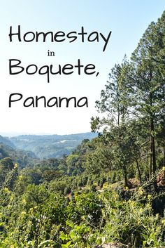 Homestay in Boquete Panama