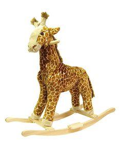 Giraffe Plush #Rocker by Happy Trails on #zulily... @April King