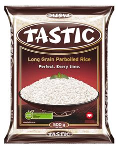 Tastic Parboiled Rice 500g Parboiled Rice, Homemade Curry, Rice Bowls, Chicken Casserole, Packaging Design, Grains, Range, Dinner, Store