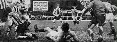 Gillingham 0 Grimsby Town 1 in March 1972 at Priestfield Stadium. Gillingham go flat out for the equaliser in the Division 4 clash. Grimsby Town Fc, Gillingham, Rage, Wrestling, Division, 1970s, March, Football, Flat