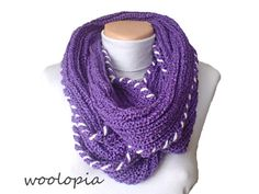 Hey, I found this really awesome Etsy listing at https://www.etsy.com/listing/175506386/purple-hand-knitted-infinity-scarf-hat