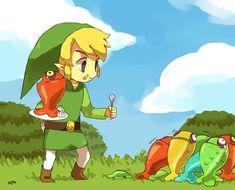 KIRU75, Zelda no Densetsu: Kaze no Takuto, Zelda no Densetsu, Link, Toon Link, Chuchu (Zelda no Densetsu)