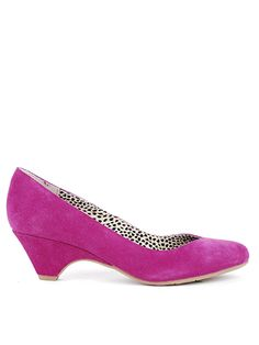 Plum suede pump