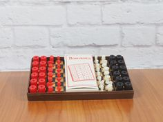 Vintage Travel Chess, Checkers and Dominoes Game Set with Plastic Case / Made in Hong Kong by FireflyVintageHome on Etsy