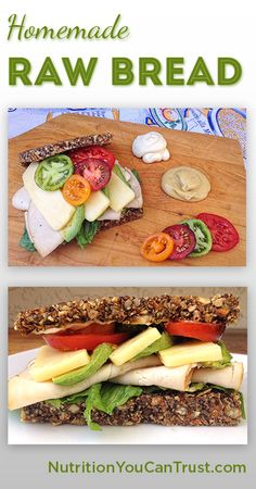 """Homemade Paleo & Vegan-friendly Raw Bread Recipe Love the info about why foods are """"fortified"""" etc"""