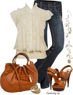 """""""Ruffled Blouse"""" by kimberly-lp on Polyvore"""