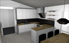 First plan for the kitchen