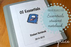 How we set up our Essentials Student Notebook::cultivated by Grace