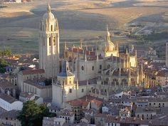 Catedral de Segovia. Vista aérea.
