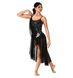 Discount Dance Supply - Asymmetrical Lyrical Dress (Style N7405)