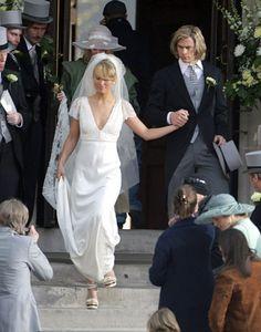 "From the movie ""Rush"" Chris Hemsworth aka James Hunt and Olivia Wilde aka Suzy Miller. Movie Wedding Dresses, Famous Wedding Dresses, Wedding Movies, Wedding Dress Sleeves, Royal Weddings, Mermaid Dresses, Wedding Styles, Wedding Ideas, Ball Gowns"