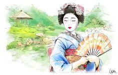 Japan - Travel by Anna Ulyashina - illustrator, via Behance