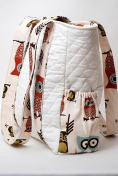 Owl Print Diaper Bag or Tote BagMade to Order by pompompurses, $55.00