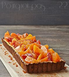 Pourquoi pas .... ??: Tarte à la crème, oranges sanguines et caramel Orange Sanguine, Caramel, Sweet Pie, Fruit Tart, Cocoon, Minute, Cheesecake, Strawberry, Ice Cream