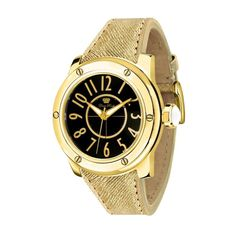 GLAM ROCK WOMEN'S AQUAROCK 42MM GOLD-TONE LEATHER BAND QUARTZ WATCH GR50017 #Fashion