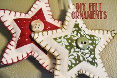 SimplyComfy: DIY Felt Ornaments - Christmas Stars