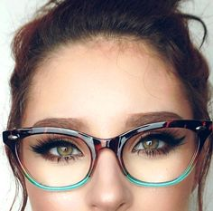 "$6.74 - Cat Eye ""Ombre"" Women Eyeglasses Tortoise Pink Or Aqua Two Tone Gradient Shadz #ebay #Fashion"